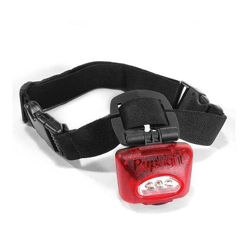PupLight Dog Safety Light Red