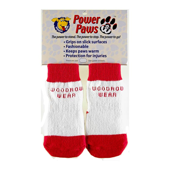 "Woodrow Wear Power Paws Advanced Large Red / White Strip 2.38"" - 2.75"" x 2.38"" - 2.75"""