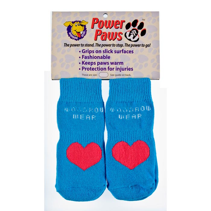 "Woodrow Wear Power Paws Advanced Medium Blue / Red Heart 2.0"" - 2.38"" x 2.0"" - 2.38"""