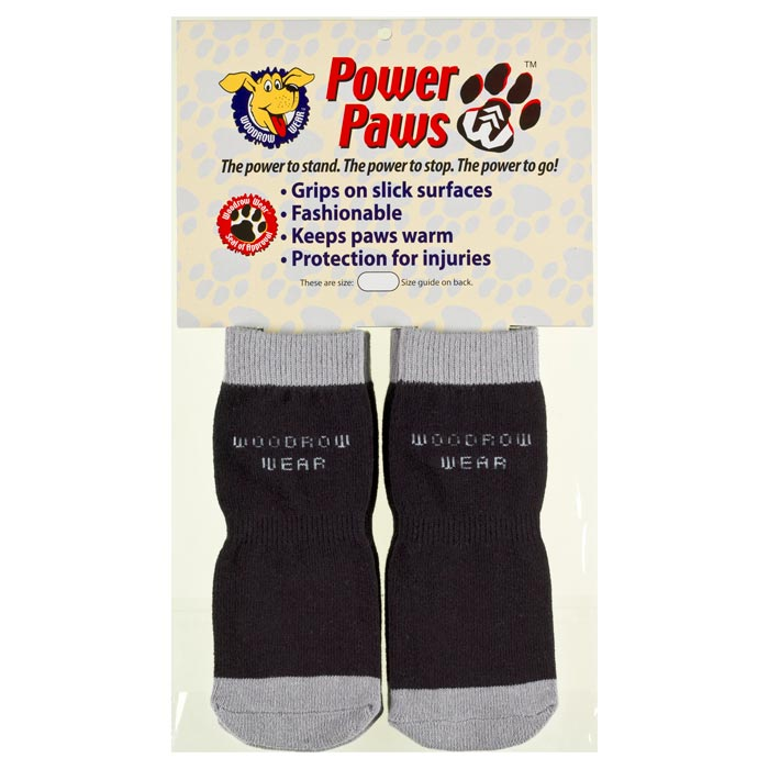 "Woodrow Wear Power Paws Advanced Small Black / Grey 1.75"" - 2.0"" x 1.75"" - 2.0"""