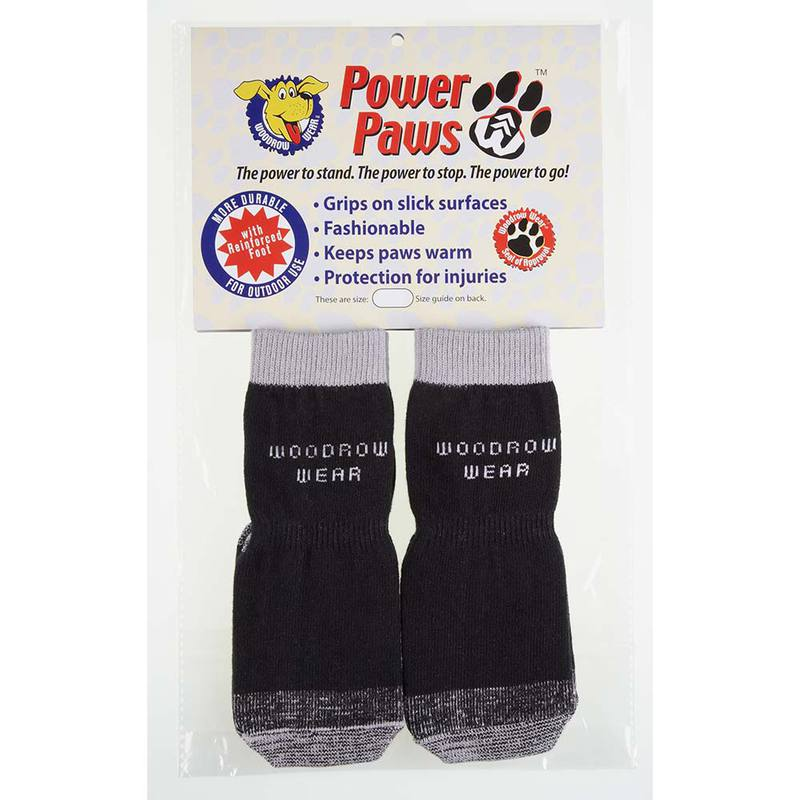 "Woodrow Wear Power Paws Reinforced Foot Extra Small Black/Gray 1.38"" - 1.75"" x 1.38"" x 1.75"""