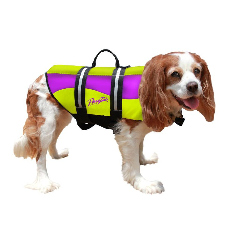 Pawz Pet Products Neoprene Dog Life Jacket Large Yellow / Purple