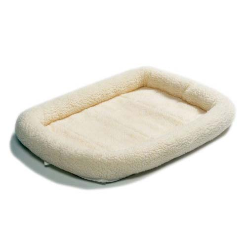 "Midwest Quiet Time Fleece Dog Crate Bed White 22"" x 13"""