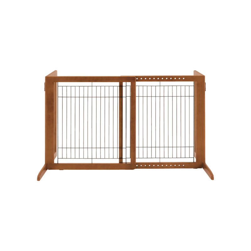 "Richell Freestanding Pet Gate HS Autumn Matte 28.3"" - 47.2"" x 23.6"" x 27.6"""