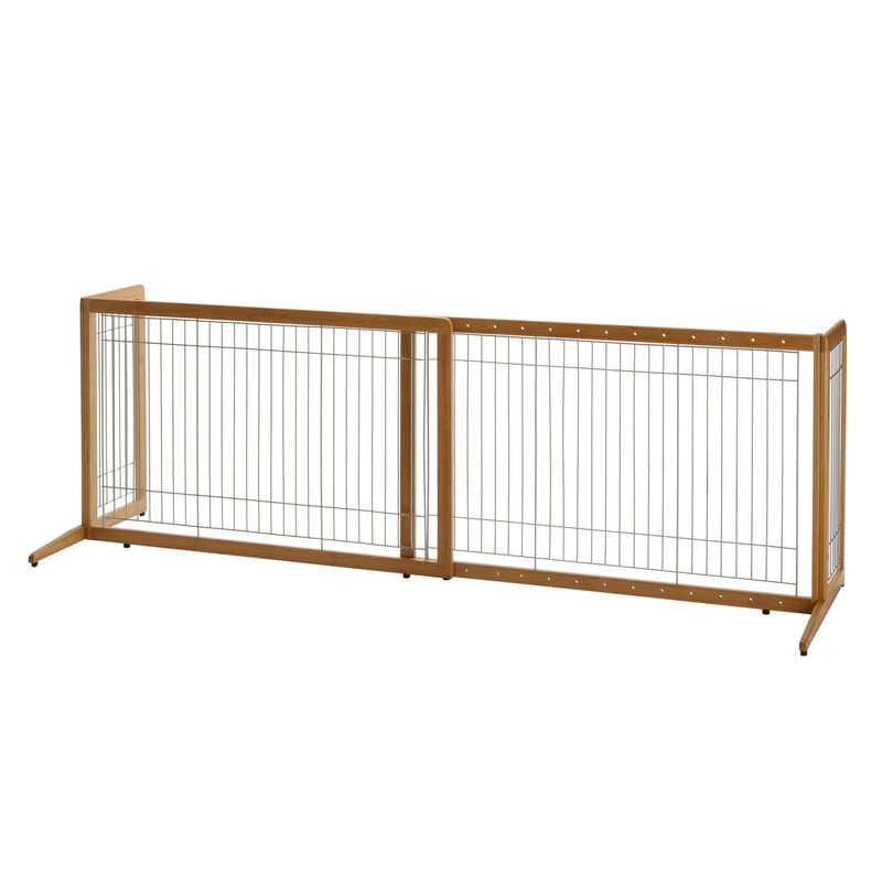 "Richell Také Freestanding Pet Gate Coffee Bean 40.4"" - 70.5"" x 20.1"" x 24"""