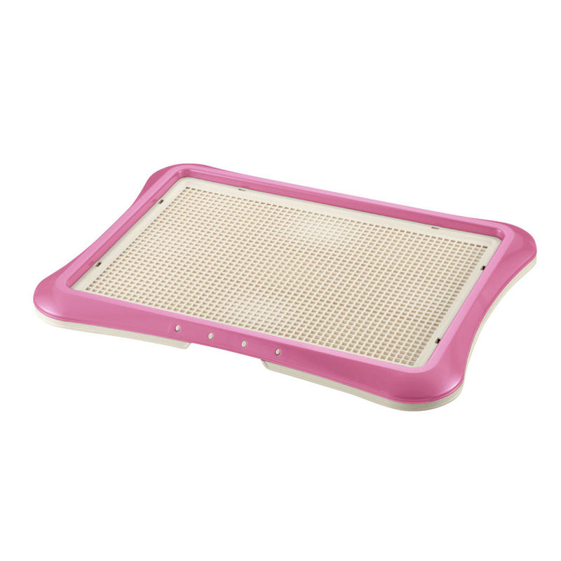 "Richell Paw Trax Mesh Training Tray Pink 25.2"" x 18.9"" x 1.6"""