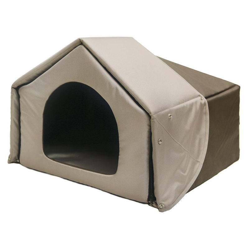 "Richell Convertible Pet Bed House Brown 26.2"" x 19.7"" x 18.1"""