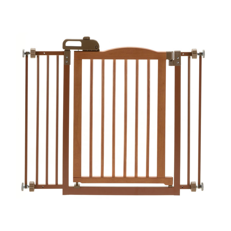 "Richell One-Touch Pressure Pet Gate II 32.1"" - 36.4"" x 2"" x 30.5"" 94929 Autumn Matte"