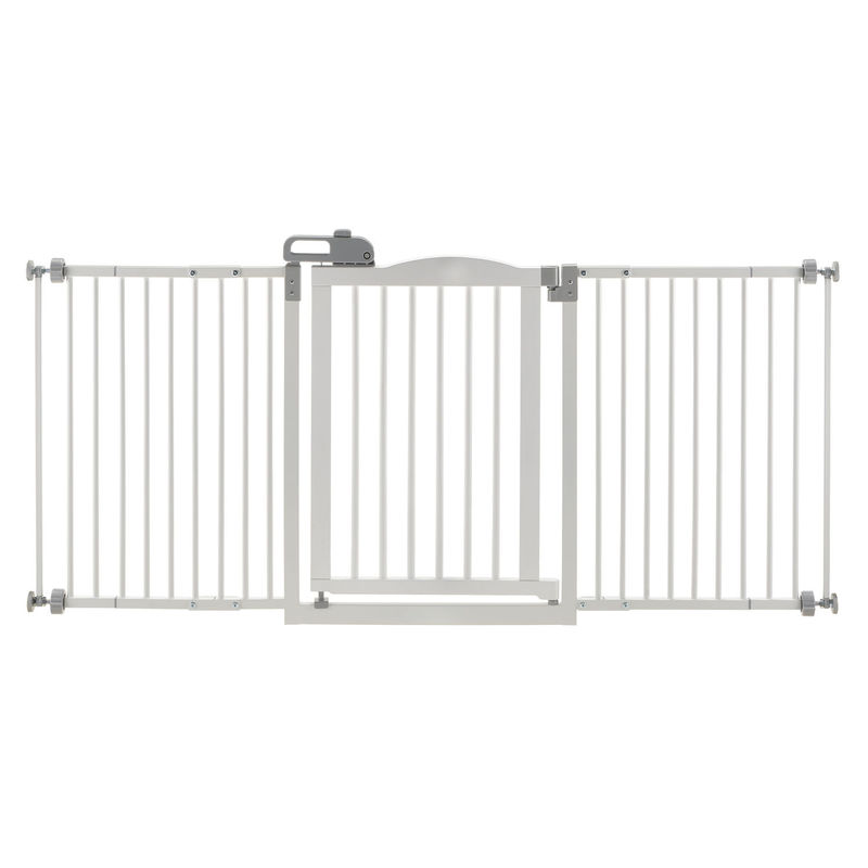 "Richell One-Touch Wide Pressure Mounted Pet Gate II White 32.1"" - 62.8"" x 2"" x 30.5"""