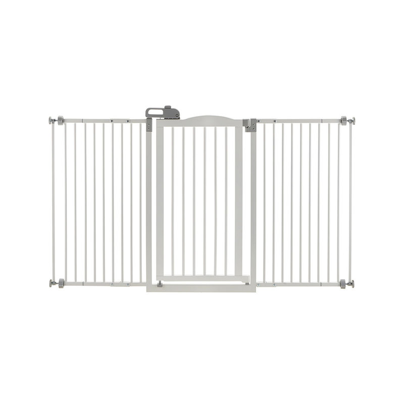 "Richell Tall and Wide One-Touch Pressure Mounted Pet Gate White 32.1"" - 62.8"" x 2"" x 38.4"""