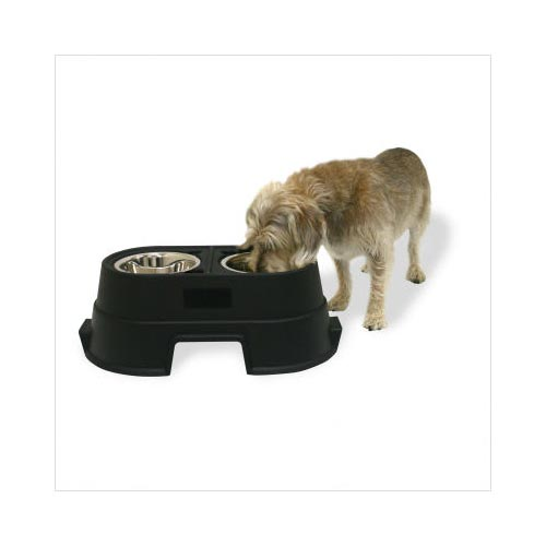 "Our Pets Healthy Pet Diner Elevated Dog Feeder Medium Black 23.5"" x 13"" x 8"""