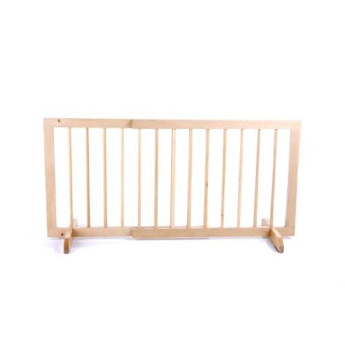 "Cardinal Gates Step Over Free Standing Pet Gate Natural Wood 28"" - 51.75"" x 2"" x 20"""