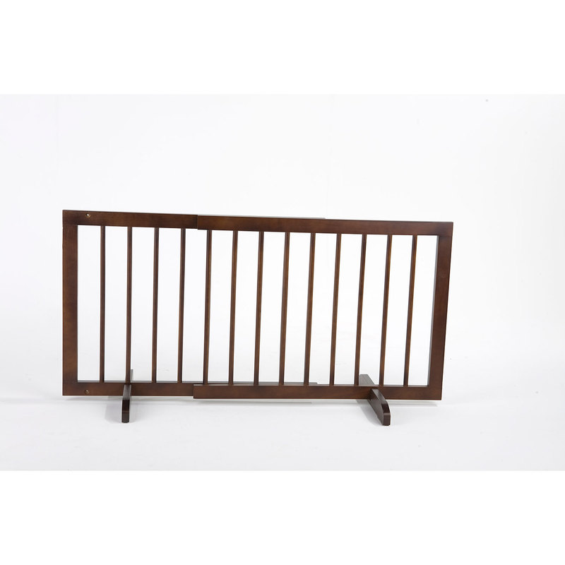 "Cardinal Gates Step Over Free Standing Pet Gate Walnut 28"" - 51.75"" x 2"" x 20"""