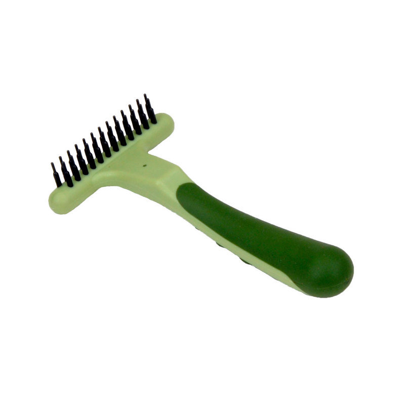 "Coastal Pet Products Safari Dog Undercoat Rake Green 6.5"" x 3.75"" x 1.3"""