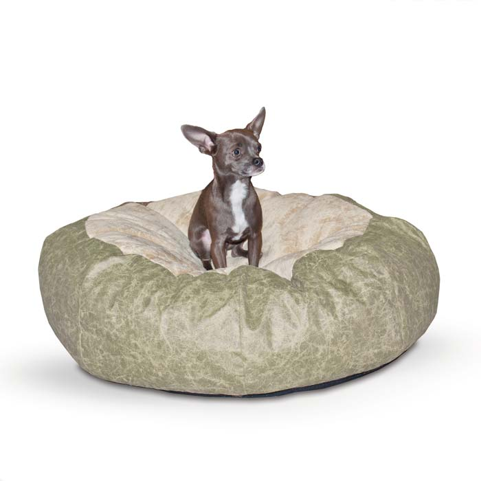 "K&H Pet Products Self Warming Cuddle Ball: Green Distress, Large, 48"" x 48"" x 12"""