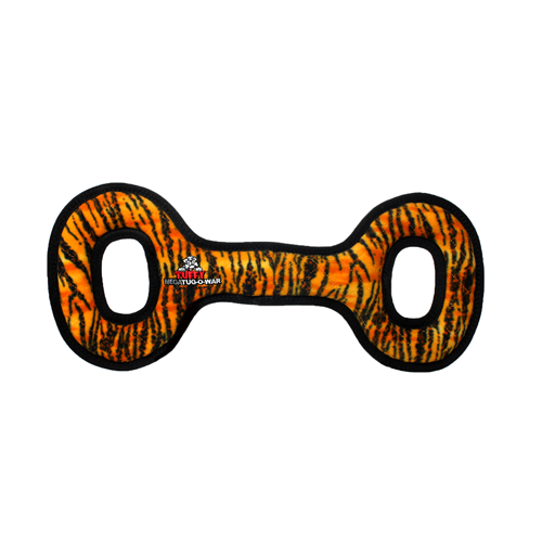 Tuffy Mega Tug Oval: Tiger Print