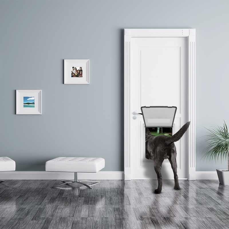 "Large Breed Pet Door with 14.5 x 12"" flap opening"