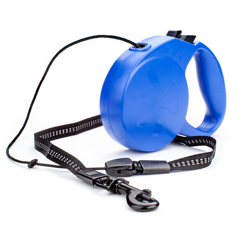 10-foot Blue Extra-Small Retractable Dog Leash