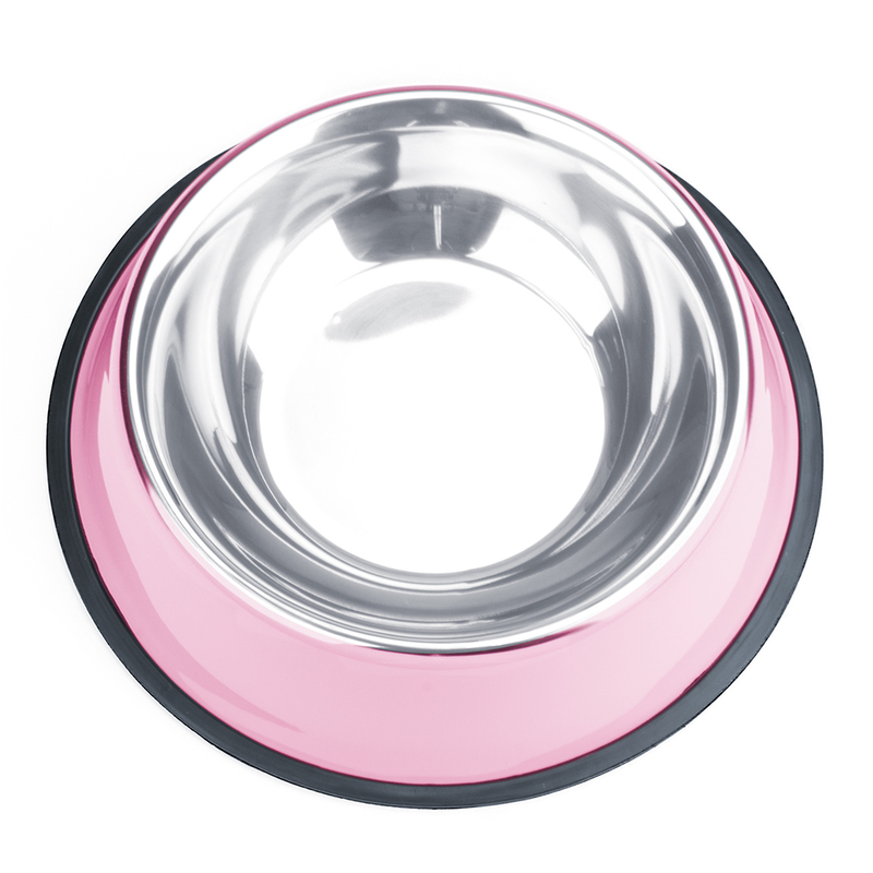 24oz. Pink Stainless Steel Dog Bowl