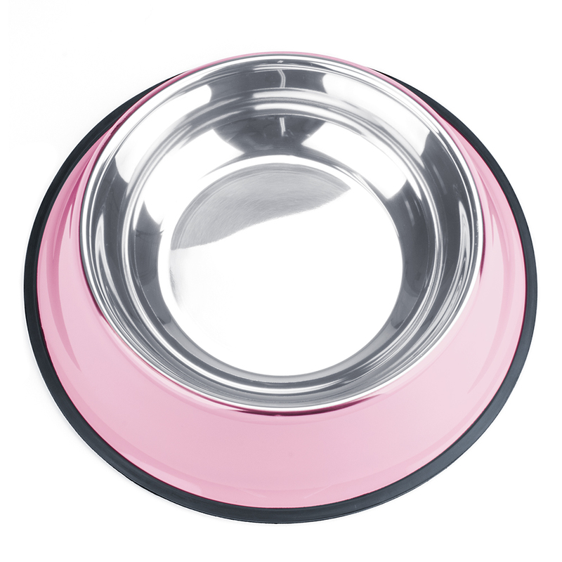 40oz. Pink Stainless Steel Dog Bowl