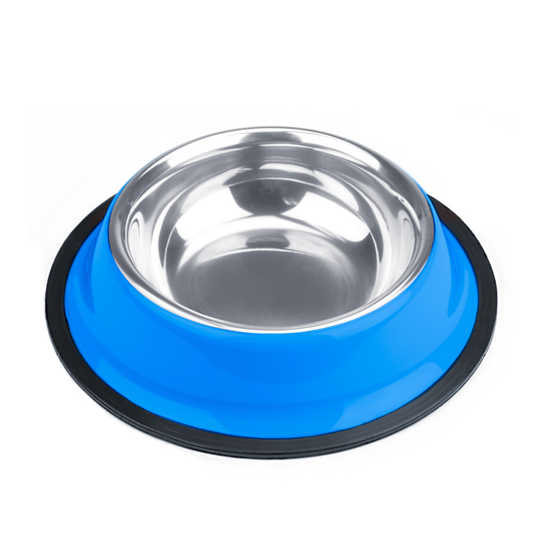 4oz. Blue Stainless Steel Dog Bowl