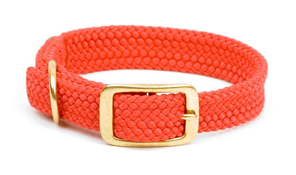 "Mendota Pet Double Braid Collar: Red, 1""W Up to 18"""