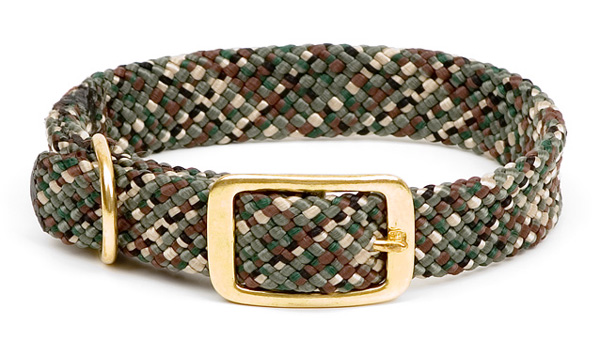 "Mendota Pet Double Braid Collar: Camo, 1""W Up to 18"""