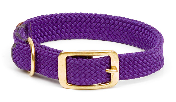 "Mendota™ Double Braid Collar: Purple, 1""W Up to 18"""