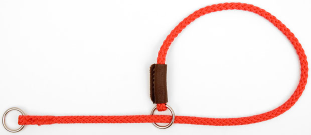 "Mendota Pet Show Slip Collar: Red, 1/8"" X 16"""