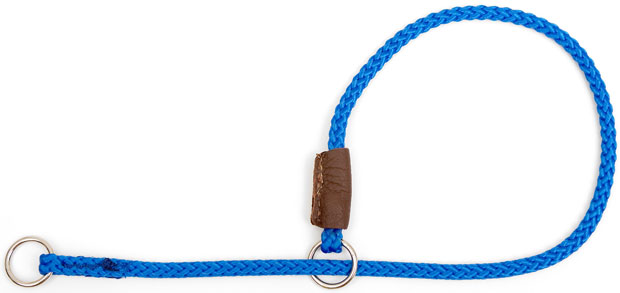 "Mendota Pet Show Slip Collar: Blue, 1/8"" x 22"""