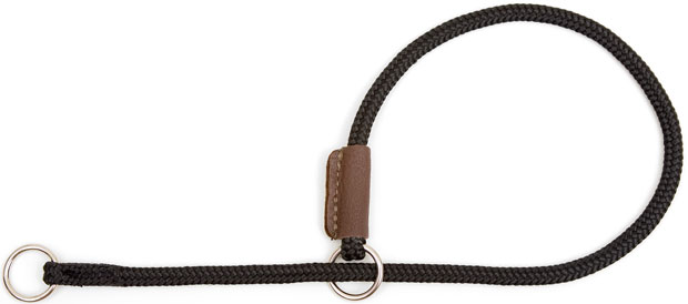 "Mendota Pet Show Slip Collar: Black, 1/8"" x 22"""