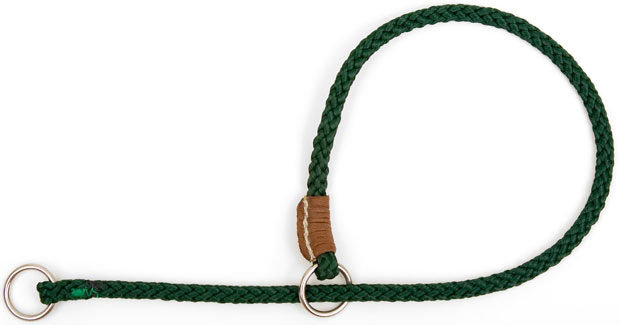 "Mendota Pet Show Slip Collar: Green, 1/8"" x 24"""