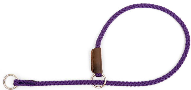 "Mendota Show Slip Collar: Purple, 1/8"" x 22"""