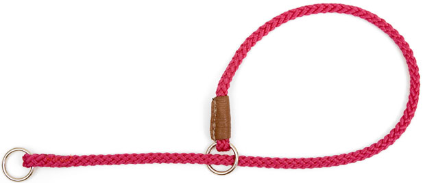 "Mendota Pet Show Slip Collar: Raspberry, 1/8"" X 20"""