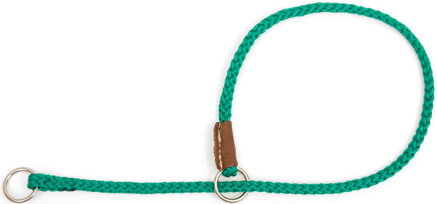"Mendota Pet Show Slip Collar: Kelly Green, 1/8"" x 22"""