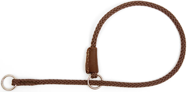 "Mendota Pet Show Slip Collar: Dark Brown, 1/8"" x 24"""