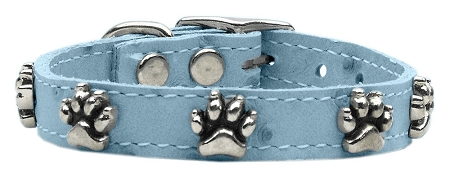 Faux Ostrich Paw Leather Baby Blue 12
