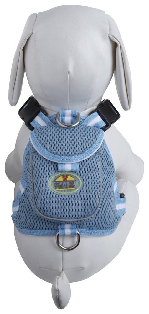Pet Life Mesh Pet Harness With Pouch: Small, Blue