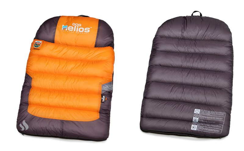 Helios Trail-Barker Multi-Surface Travel Dog Bed Featuring BlackShark Technology: One Size, Sunkist Orange, Dark Grey