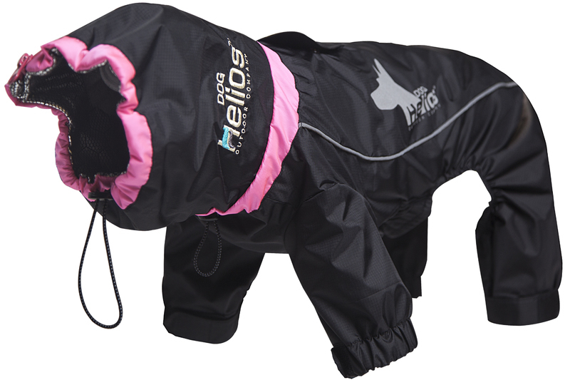 Helios Weather-King Ultimate Windproof Full Bodied Pet Jacket: Small, Black