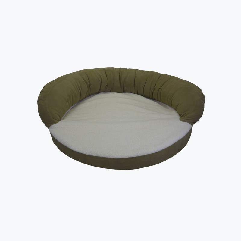 Carolina Pet Products ORTHO SLEEPER BOLSTER BED: Sage