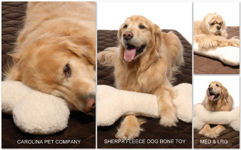 Carolina Pet Products BONE PILLOW/TOY: Natural