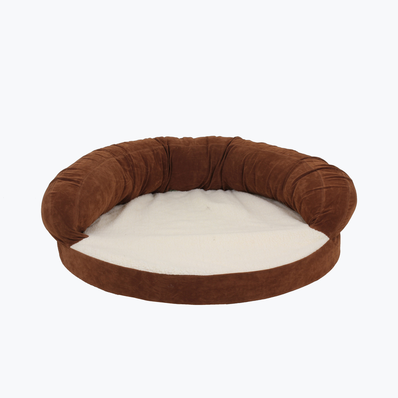 Carolina Pet Products ORTHO SLEEPER BOLSTER BED: Chocolate