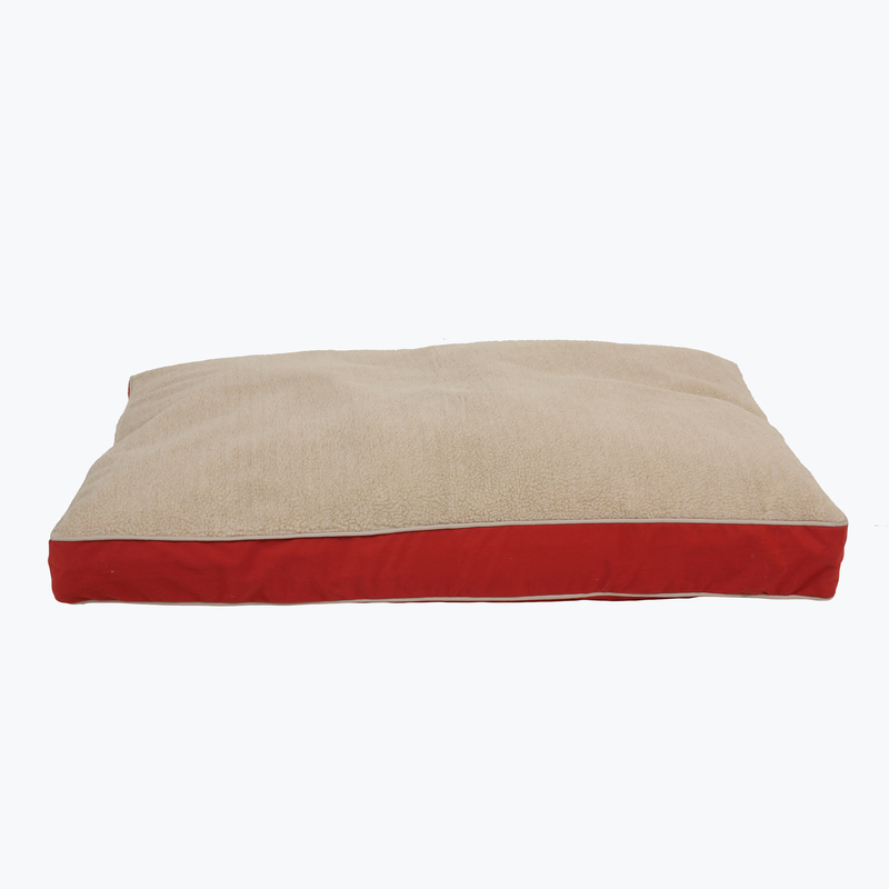 "Carolina Pet Products FOUR SEASON ""JAMISON"" w/Cashmere Berber Top and Contrast Cording: Red"