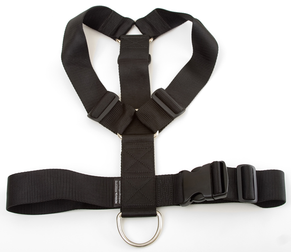 Mendota Pet Heavy Duty Tracking Harness: Black, One Size Fits All