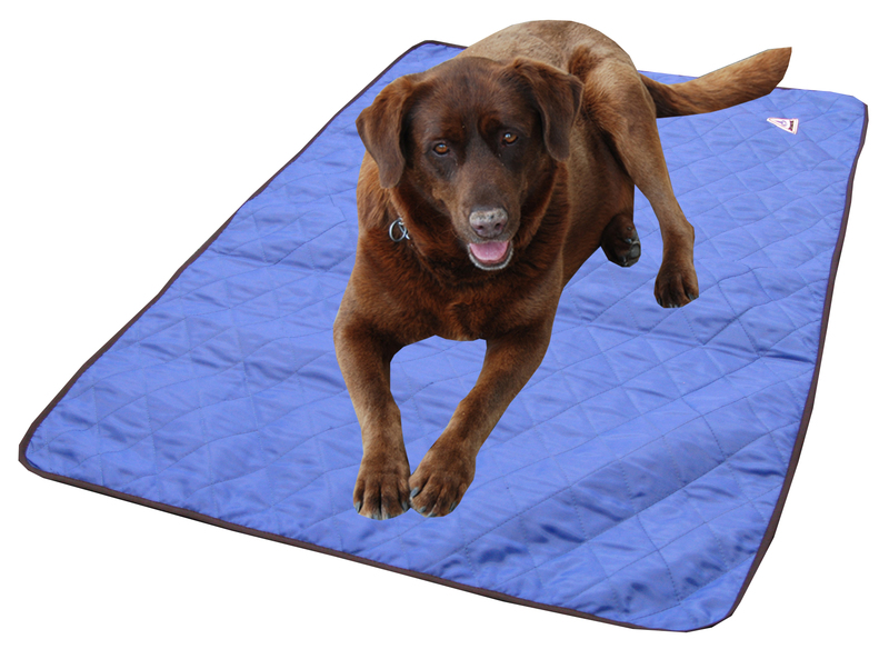 HyperKewl Evaporative Cooling Dog Pad: Blue, S