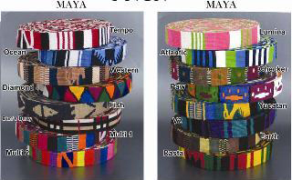 Color Pet™ Maya Checker Collar: Medium Wide