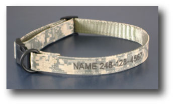 Color Pet™ Digital Camo Personalized Collar: Medium Wide