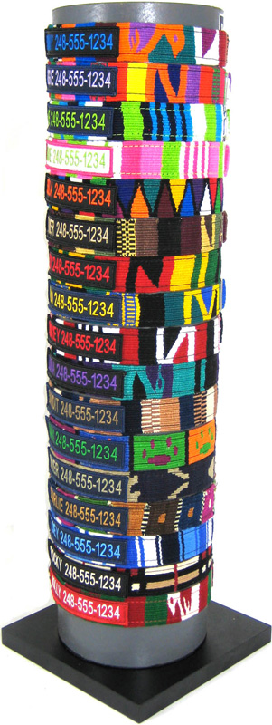 Color Pet™ Maya Custom Personalized Checker Collar: Medium Wide
