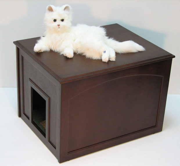 Crown Pet™ Cat Litter Cabinet: Espresso